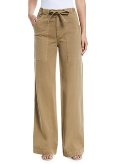 A.L.C. Carver Belted Wide-Leg Pants
