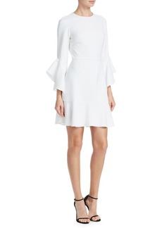 A.L.C. Cassidy Flounce Bell-Sleeve Dress