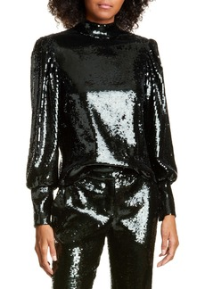 A.L.C. Cecily Sequin Top
