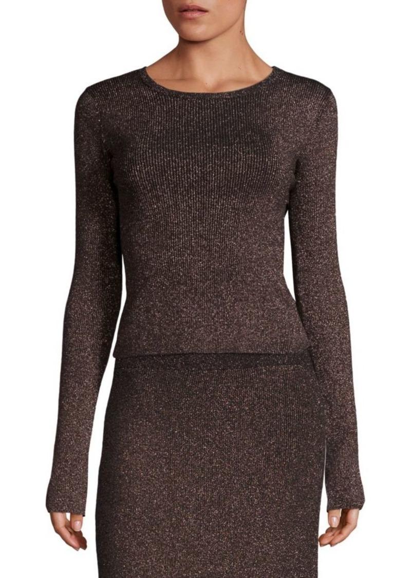 A.L.C. Chance Metallic Crossback Sweater