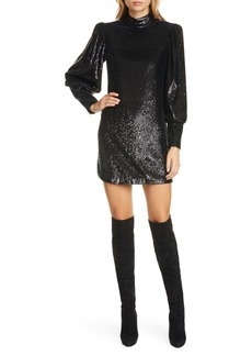 A.L.C. Christy Sequin Long Sleeve Minidress