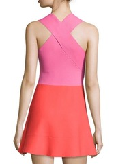 A.L.C. Cini Two-Tone Flared Dress