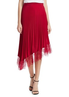 A.L.C. Claude Pleated Midi Skirt