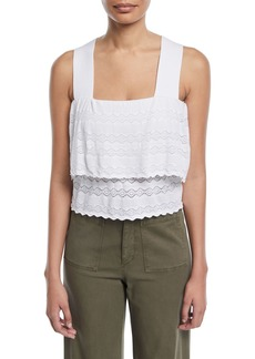 A.L.C. Coppola Sleeveless Tiered Lace Top