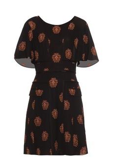 A.L.C. Crest-print silk dress
