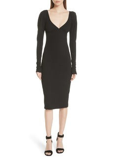 A.L.C. Dafne Puff Shoulder Body-Con Dress
