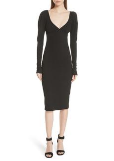 A.L.C. Dafne Puff Shoulder Body-Con Dress