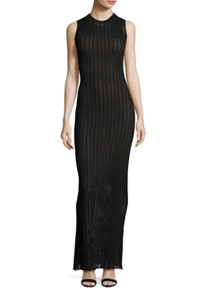 A.L.C. Daphne Sleeveless Striped Crochet Maxi Dress
