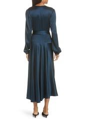 A.L.C. Darby Stretch Silk Wrap Dress