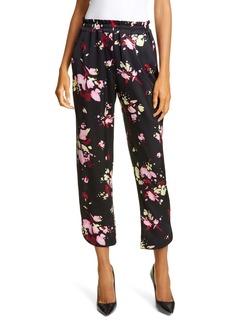 A.L.C. Deacon Floral Stretch Silk Crop Pants
