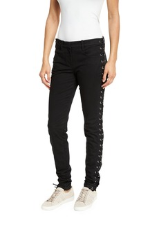 A.L.C. Dent Laced Skinny Jeans