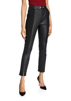 A.L.C. Devin Leather Combo Skinny Pants