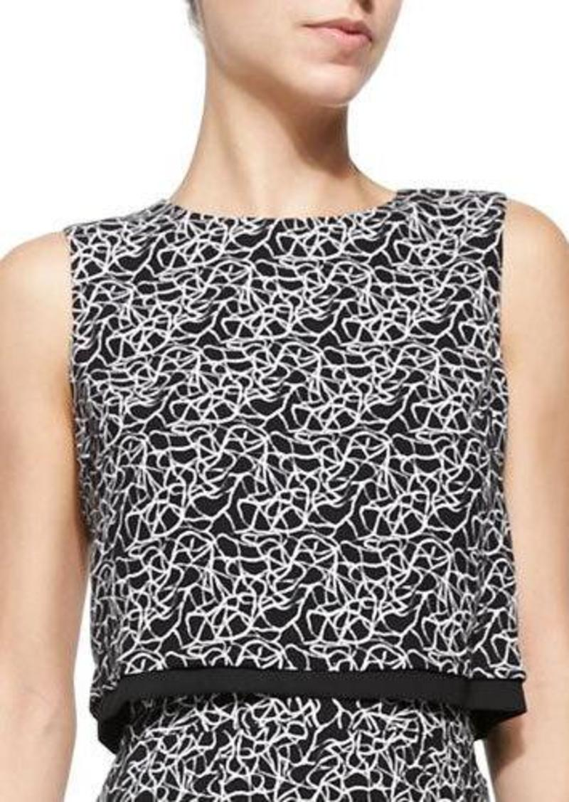A.L.C. Devoe Sleeveless Crackle-Print Top