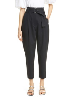 A.L.C. Diego High Waist Crop Cotton Blend Pants