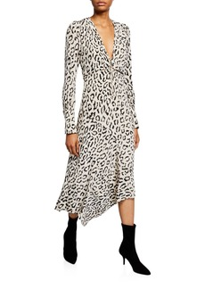 A.L.C. Eden Printed Long-Sleeve Zip-Front Dress