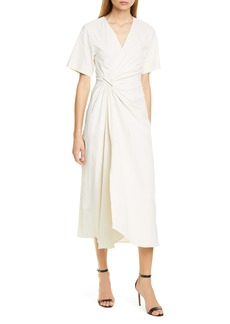 A.L.C. Edie Faux Wrap Midi Dress