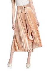 A.L.C. Eleanor Pleated High-Waist Midi Skirt