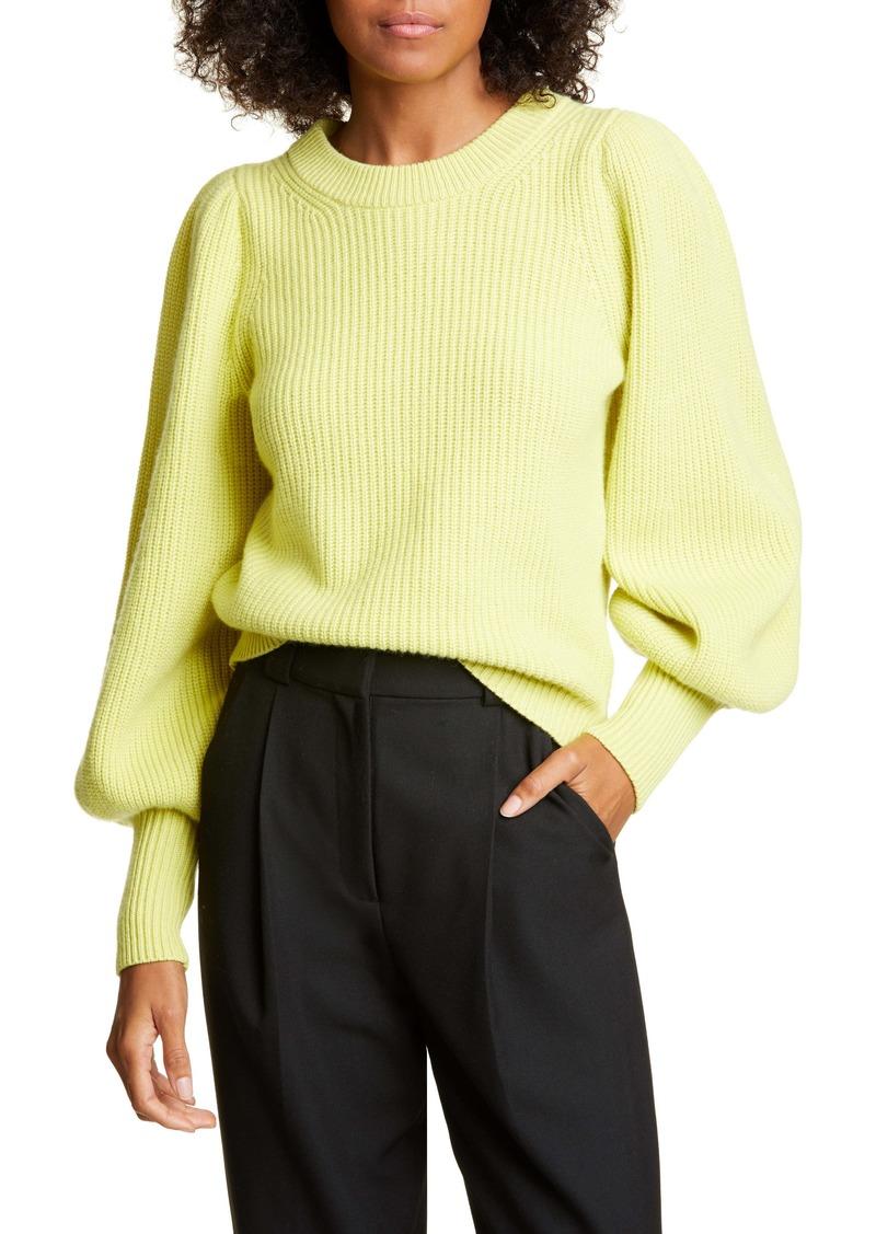 A.L.C. Eliana Balloon Sleeve Wool Blend Sweater