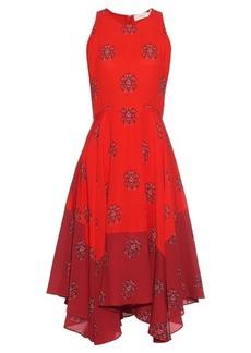 A.L.C. Elisa crest-print silk-crepe dress