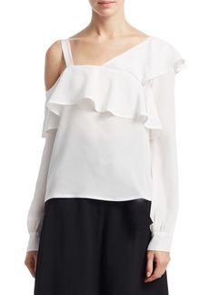 A.L.C. Eliza One-Shoulder Silk Top