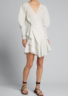 A.L.C. Enzo Stripe Wrap Dress