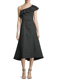 A.L.C. Evangeline Flared One-Shoulder Dress