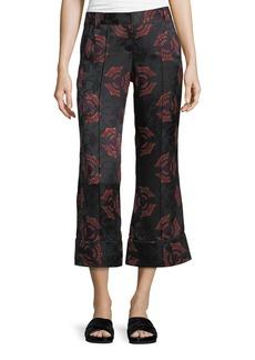 A.L.C. Evans Crop Flare Silk Pants