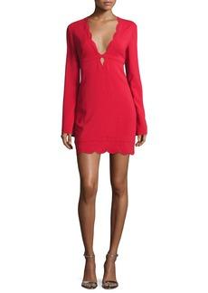 A.L.C. Eve Scalloped Stretch Crepe Dress