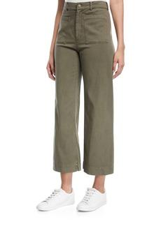 A.L.C. Finley High-Waist Wide-Leg Cropped Pants