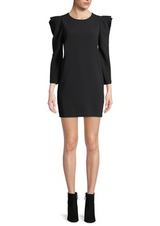 A.L.C. Fiona Long-Sleeve Crepe Shift Dress