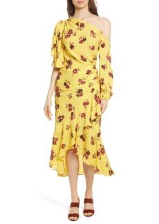 A.L.C. Florence One-Shoulder Silk Dress