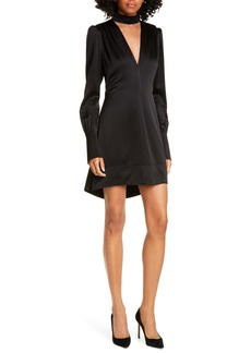 A.L.C. Garrison Cutout Long Sleeve High/Low Minidress