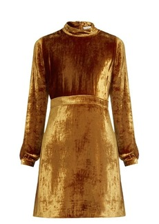 A.L.C. Gemma high-neck velvet dress