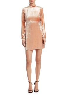 A.L.C. Gemma Velvet Mockneck Mini Dress