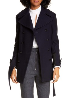 A.L.C. Gio Double Breasted Wool Blend Coat