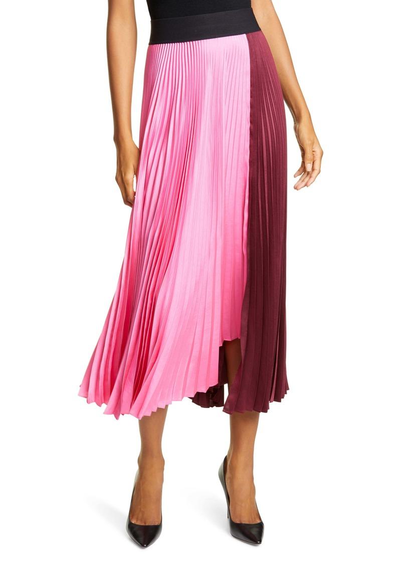 A.L.C. Grainger Asymmetrical Pleated Midi Skirt