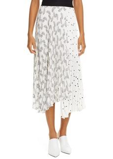 A.L.C. Grainger Print Asymmetrical Midi Skirt