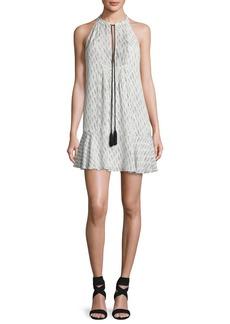 A.L.C. Hadley Sleeveless Printed Silk Flounce Dress