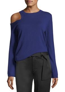 A.L.C. Hamilton Cutout-Shoulder Wool-Cashmere Sweater