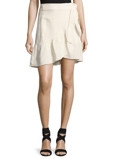 A.L.C. Hampton Wrap-Front Mini Skirt