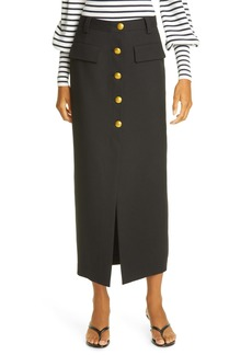 A.L.C. Holmes Button Front Skirt