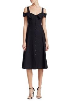 A.L.C. Hudson Linen Midi Dress