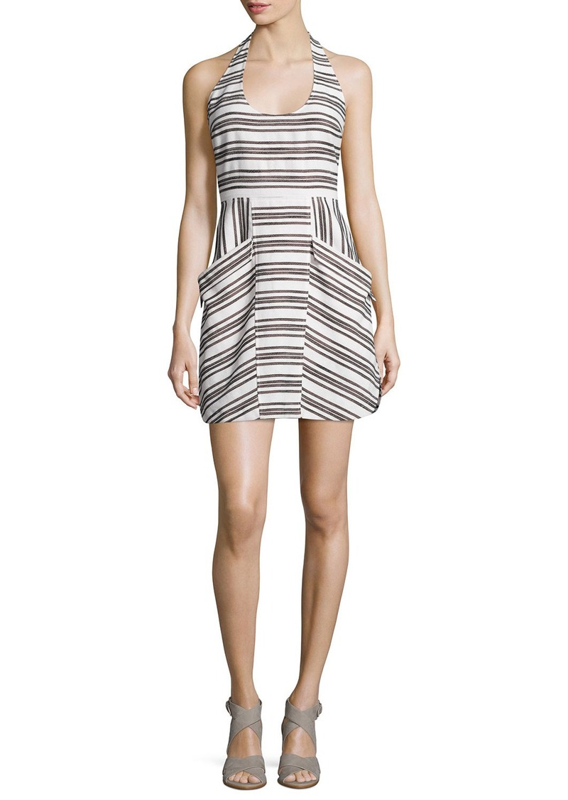 A.L.C. Hudson Striped Halter Dress