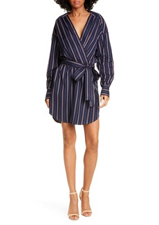 A.L.C. Imogen Stripe Long Sleeve Wrap Dress