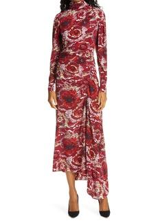 A.L.C. Isabella Floral Long Sleeve Asymmetrical Maxi Dress