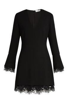A.L.C. Jamie lace-trimmed crepe mini dress