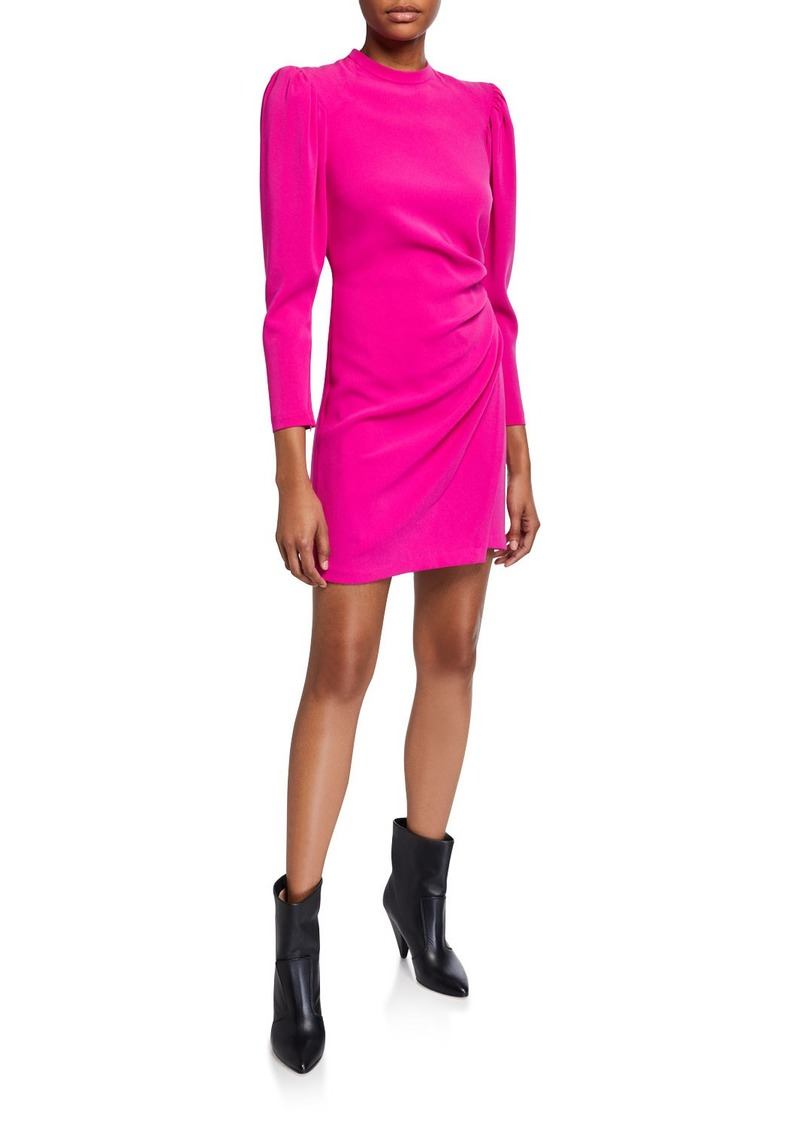 A.L.C. Jane Side-Ruched Long-Sleeve Dress