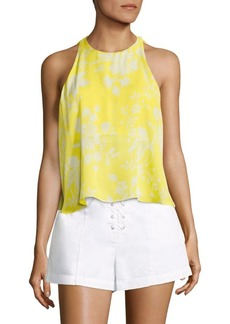 A.L.C. Jasper Flyaway Silk Cropped Top