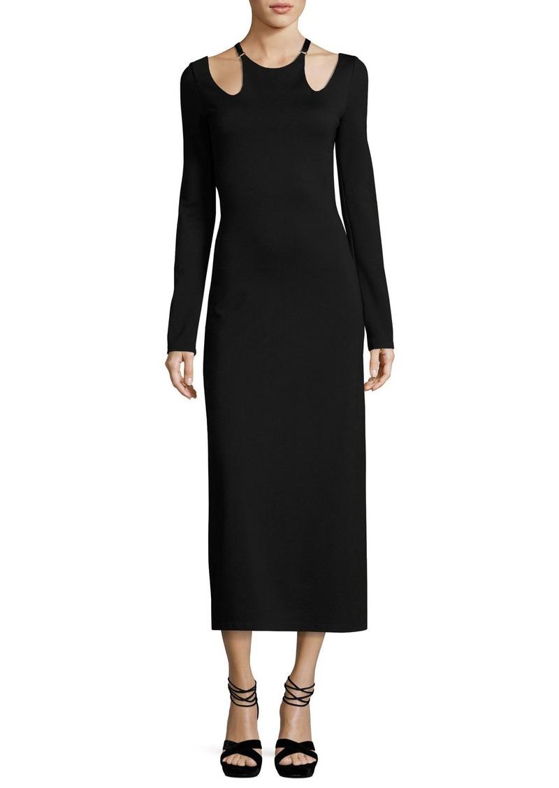 A L C A L C Jessa Long Sleeve Cutout Ponte Midi Dress Dresses