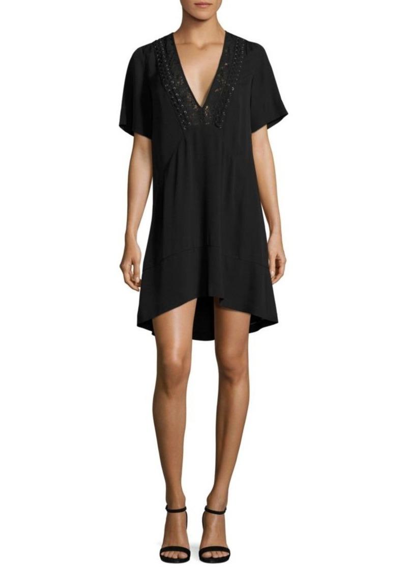 A.L.C. Joelle Lace-Up Silk Dress